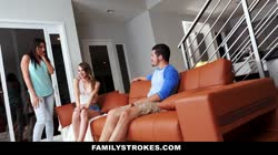 FamilyStrokes - Making My Hot StepCousin Squirt