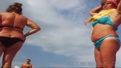 Russian Mature On The Beach! Amateur Hidden Cam!
