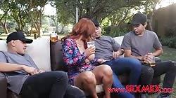 SexMex Vika Borja - Gang Bang With The Gardeners