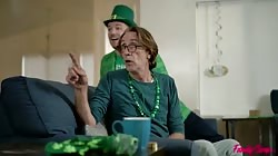 Familyswap Angel Youngs And Katie Monroe - St Patricks Day With My Swap Family Gets Sexual