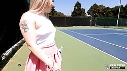 Bang Real Teens Haley Spades - Goes Buckwild At A Public Tennis Court